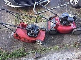 petrol lawnmowers briggs & stratton sold as is . spares or repair £10