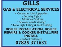 Electrician and gas engineer- gas safe and part p registered