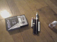 4 e-cig Batteries 2 tanks Mint condition with juice