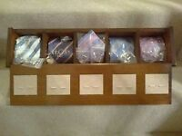 Gui Laroque Tie Cufflink Set in Redwood Display Box NEW!! IDEAL GIFT!!