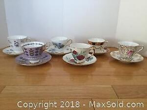 Tea Cups and Saucers Lot 3 A