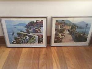 'Howard Behrens' Framed Prints - Lake Como & Bellagio Promenade Italy