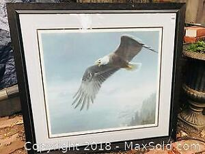ON THE WING BALD EAGLE BY ROBERT BATEMAN NUMBERED 187/950 SIGNED
