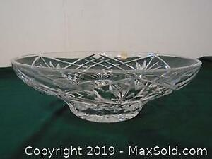 Large Crystal Bowl Made in Italy