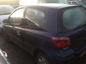 2001 TOYOTA YARIS 1000cc - BREAKING FOR PARTS