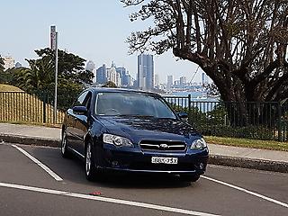Blue Subaru Liberty.  MYO6.  only 2 owners.  service history