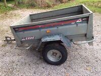 Erde trailer and spare wheel