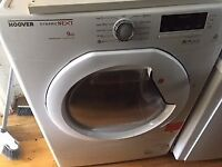 HOOVER DYNAMIC NEXT 9KG TUMBLE DRYER SPARES OR REPAIR INDICATOR ON PANEL SHOWING NOT DRAINNING