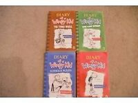 Diary of a Wimpy Kids set of 4 books