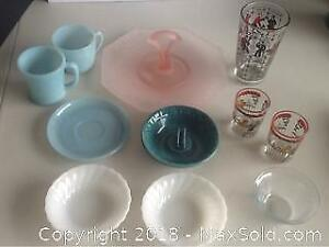 Lot Of Vintage Glass