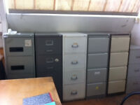 2nd hand but serviceable office furniture, 20 pine office desks, 16 filing cabinets,10 office chairs