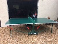 Kettler Outdoor/Indoor Table Tennis Table, used but still in good condition and comes with a cover