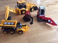 Four Boys Digger Toys