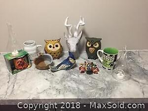 Mixed Household Decor And Other Items