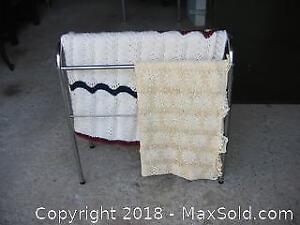 Crochet Table Cloth, Afghan, Quilt Stand A