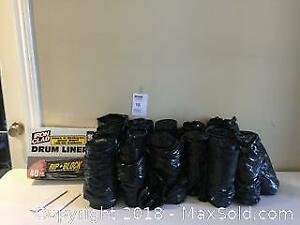 Commercial Drum Liners- Heavy Duty Black Garbage Bags