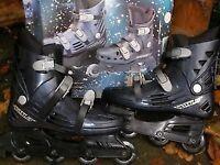streamline inline skates worn once as new.