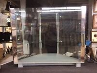 Three tier glass display cabinet free standing or counter top