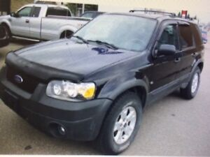 2005 Ford Escape Black XLT 4WD 4Dr SUV