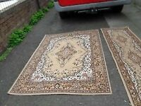 SET OF THICK RUG + SIMILAR THICK RUNNER (2 PCS)