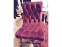 Beautiful red childs chair