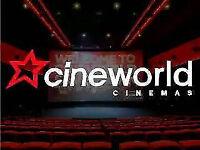 Cineworld cinema tickets x 4