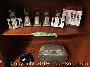 Vtech Cordless Phones, Sony Radio and D-Link Router