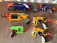Selection of Nerf guns