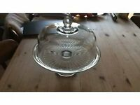 Anchor glass cake stand with glass dome lid beautiful quality 4 avaliable.