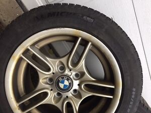 Michelin X-Ice winter tires 205/55R16 on Bmw rims