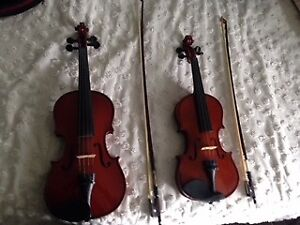 Mint condition children's  1/2 AND 3/4 size violins - $150 each