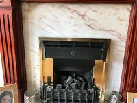Fireplace surround and marble for sale