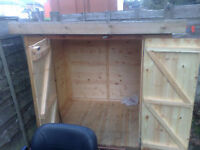 5x4 wooden shed