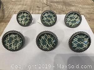 Door Knobs Green and white