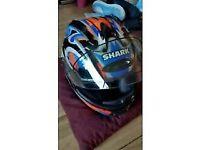 Shark motorbike helmet size Large in excellent condition