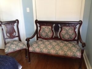 Antique Setee with matching chair
