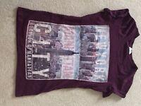 Print T-Shirt, Size 6, New York Design