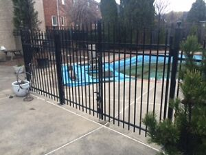 Aluminum Fence - 5ft high x 76 lineal feet, includes gate