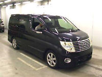 FRESH IMPORT 2006 FACE LIFT NISSAN ELGRAND HIGHWAY STAR 4WD V6 AUTOMATIC BLACK