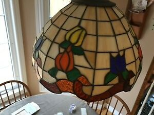 Stained glass hanging kitchen table light