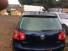 vw golf mk5 rear boot lid for sale complete fitted call parts thanks