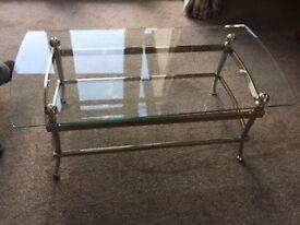 Glass coffee table!