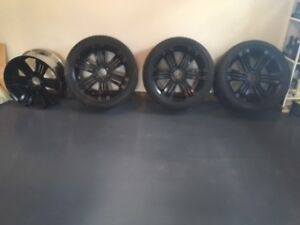 """These Need To Go ... Set of 4 22"""" Black Matte Rims 6 x 135 Bolt"""