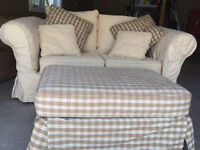 ABSOLUTELY stunning CUSTOM couch set- love seat, chair, ottoman