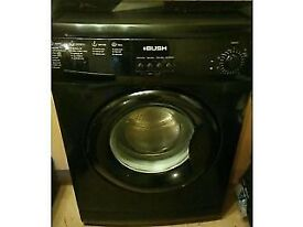 78 Bush F721QB 7kg 1200 Spin Black A+ Rated Washing Machine 1 YEAR GUARANTEE FREE DEL N FIT