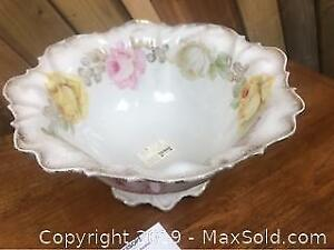 Antique China Rose Footed Bowl Prussia