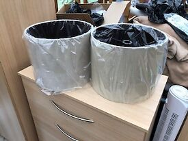 Brand New, set of 2 lampshades in Linen