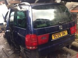 SEAT ALHAMBRA 1.9 DIESEL 2005 NAVY BLUE 5DR (ENGINE CODE ASZ) BREAKING FOR SPARES