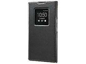 BlackBerry Leather Smart Flip Cover Case for BlackBerry Priv - Black. New, boxed.