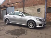 Silver, Mercedes C220 AMG Sport, Blue Efficiency, Diesel, Automatic, Panoramic Sunroof